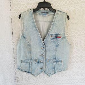 Jordache 80s Vintage Jean Vest Size L